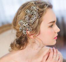 Golden Wedding Hair Accessories Bridal hair Clip Shining Formal hair piece