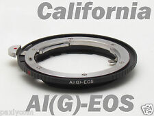Nikon AI G to EOS Canon AF-S F EOS EF Mount Adapter 60D 650D 500D 1000D T3i T4i
