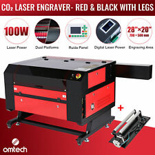 28x20 100w Co2 Laser Engraver Marking Engraving Cutting With Ruida Rotary Axis