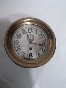 """Small 5.5"""" Jeweled Early Seth Thomas Marine Pilot Clock"""