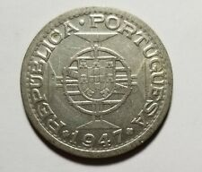 1947 India Portugal Silver 1 Rupee AU Priced Right Shipped FREE C101