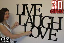 """DEKO SCHRIFTZUG """"Live Laugh Love"""" Holz Wanddeko viele farben 97cmx67cm"""