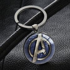 Marvel The Avengers Logo Keychains Key Chain Key Rings Pendant Silver Keyring