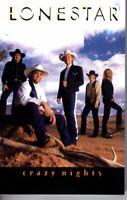 Lonestar Crazy Nights 1997 Cassette Country Folk Rock Western