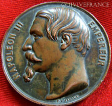 MED2881 - MEDAILLE COLLEGE DE MELUN 1857 NAPOLEON III - FRENCH MEDAL