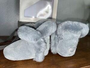 NWT NIB Baby Infant UGG Bixbee Bootie Slipper Gray Size 0/1