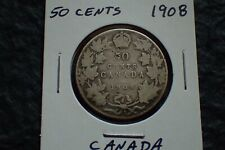 1908,  50 cents,Lot 01,  Free shipping in Canada