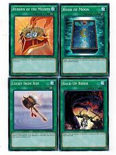 Book of Moon + Burden of Mighty +Lucky Iron +Back up YS16 Set 1st mint  Yugioh