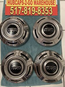 "1967-1972 Ford F250 Stainless Dogdish Poverty Hubcaps 12"" Nice Used Rare Set4"