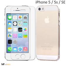 Pellicola in vetro e cover in silicone slim per APPLE IPHONE 5 5S SE