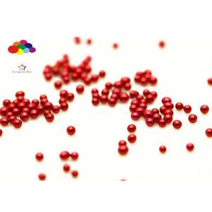 New 1000pcs Glass Jujube red Micro Beads small No Hole 1.5-2mm Nail Art Caviar