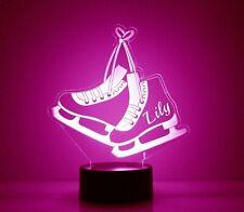 Ice Skates Personalized FREE Light Up w/remote LED Night Light