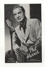 Phil Harris 1940's-50's Mutoscope Music Corp of America Arcade Card Postcard