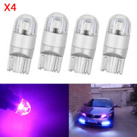 4X Purple T10 LED 2-3030 SMD Bulb W5W 194 168 Wedge Inter Parking Dome Map Light