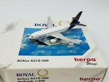 HERPA WINGS #501040 AIRBUS A310-300 ROYAL 1-500 Adult Commerical AIrplane 1980's