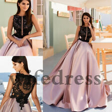 Black & Pink Formal Dresses Evening Party Cocktail Bridesmaid Wedding Prom Gown
