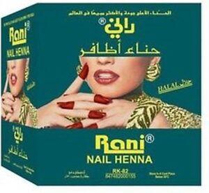 Rani Nail Henna Mendi  (Box of 12) Dark Red original by Bin Afif