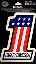 Genuine Harley Davidson American Flag Style Number #1 Decal Sticker DC227843