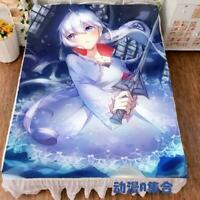 Hot Anime RWBY Weiss Schnee Cartoon Bed Sheets Blanket Bedding Otaku Gift 1.5*2m