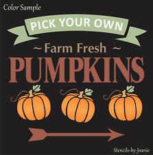 Joanie Pumpkin Stencil Farm Fresh Pick Arrow Farm Harvest Market Garden DIY Sign