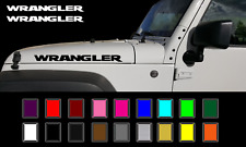 "Jeep WRANGLER Hood Decals V2 Stickers Graphics Rubicon TJ JK CJ YJ 2 - 23"""