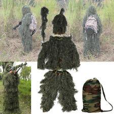 Ghillie Suit 3D Hoja Traje de Camuflaje Camo Bosque Militar Para Adultos Unisex