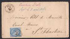 ESPAGNE LETTER TO DESTINATION OF SAN SEBASTIEN YEAR 1867
