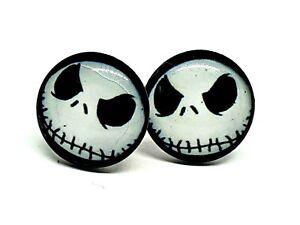 Nightmare Before Christmas Lock Clip On Earrings Available Hypoallergenic Dangle Earrings