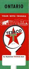 1958 Texaco Road Map: Ontario NOS