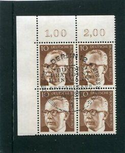 Berlin, Heinemann, Mi.-Nr. 361, Eckrandviererblock, 4er Ecke, ESST Berlin