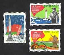 Russia 1964 Liberation Monuments of Odessa, Leningrad & Belarus … complete set