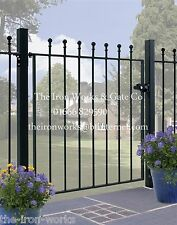 """# MANOR WROUGHT IRON METAL GATE 30"""" OP X 4ft TALL GARDEN GATES MADE TO MEASURE"""