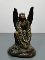 Bronzefigur,Theodore Gechter,Frankreich,Paris,kniender Engel,Angel,19.Jh,um 1880