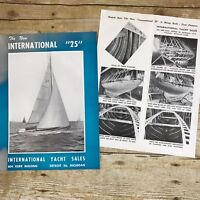 Vintage Sailboat Dealer Sales Brochure International Yacht 25 Boating Prices
