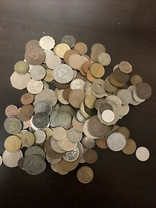 1800s-1900s 2 Pounds Unsorted Foreign Coins #8