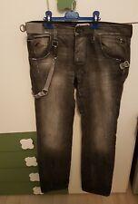 Jeans Uomo nero grigio Energie sixty taglia 48 waist 34 usato poche volte laccio