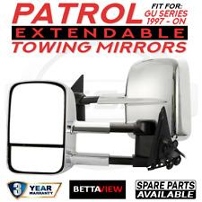 BettaView Extendable Caravan Towing Mirrors Nissan GU Patrol Fit 1997 Onwards
