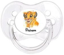 Tétine bébé personnalisée Simba Roi lion Prénom W03  - Custom Pacifier BABY