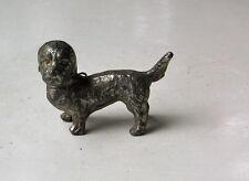 Vintage Metal Dandie Dinmont Terrier Standing Figurine