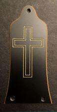 Engraved Etched GUITAR TRUSS ROD COVER Fit EPIPHONE EPI - CROSS - BLACK GOLD