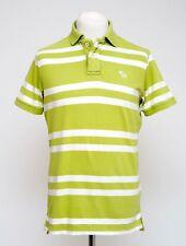 Paquete De 2 para hombre Abercrombie & Fitch Polo Camisa/Camiseta Verde A Rayas Talla L Grande en muy buena condición