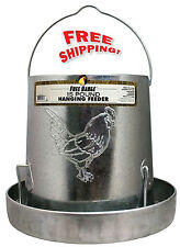 HARRIS FARMS Metal Poultry Hanging Chicken Feeder Drink Small Birds,15-Pound NEW