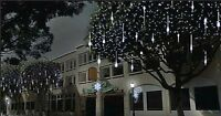 216 LED Christmas Snow Shower Icicle Lights 5m String Cable Indoor Outdoor new