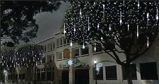 216 Led De Navidad Snow Shower Icicle luces 5 M De Cadena De Cable Interior Exterior Nueva