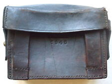 VINTAGE 1946 BROWN LEATHER ARMY AMMO BELT POUCH BRASS STAMPED D.M.G.G.F ORIGINAL