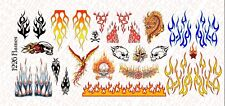 1/12 Scale Custom Tattoos for action figures: Flames pack - Waterslide Decals