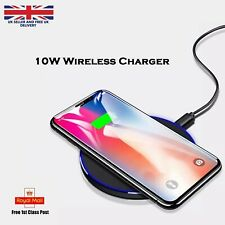Luxury Qi Fast Wireless Charger For Samsung Galaxy S20 S10  S9 S8 S7 Note 9 8