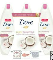 Dove Pampering Nourishing Body Wash, Coconut Milk with Jasmine Petals, 3 pk/24oz