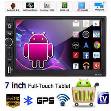 """7"""" Android 4.4 Bluetooth Double 2Din HD Car Stereo GPS Navi MP5 MP3 Player Radio"""