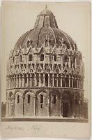 Pisa Baptisère Italia Foto PL17c1n11 Cartolina Armadio Vintage Albumina